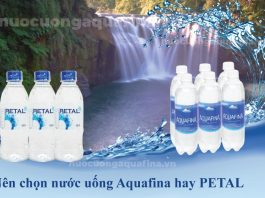 So sánh nước uống Aquafina và PETAL