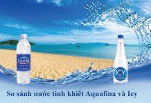 Nước uống Aquafina và Icy