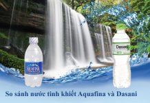 Nên chọn nước uống Aquafina hay Dasani
