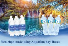 Nên chọn nước uống Aquafina hay Rosée