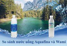 Nước uống Aquafina và nước uống Wami