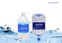 Nên chọn mua nước tinh khiết Aquafina hay Natuza?
