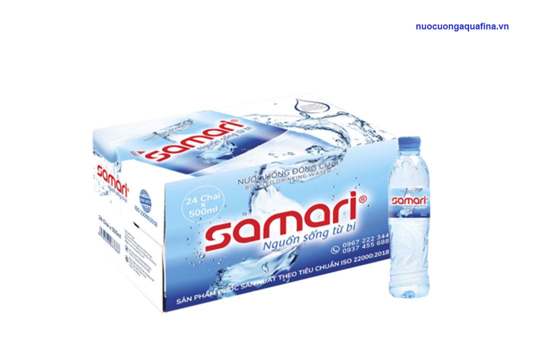 Nên chọn mua nước uống Aquafina hay Samari?
